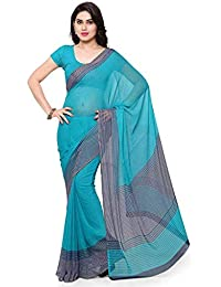 Vaamsi Georgette Printed Saree with Blouse Piece