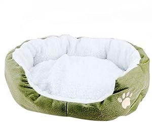 Hosaire 1X Panier corbeille niche coussin matelas lit pour Chien/Chat Animaux Taille L(60*50*22cm)-Vert