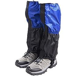 Triwonder Unisex Snow Leg Gaiters Impermeable Boot Polainas Senderismo Caminar Escalada Caza Ciclismo Leggings Cubierta (1 par) (Azul y Negro)