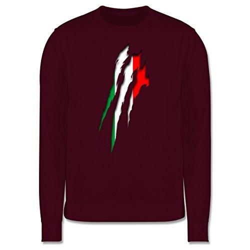 Länder - Italien Krallenspuren - Herren Premium Pullover Burgundrot