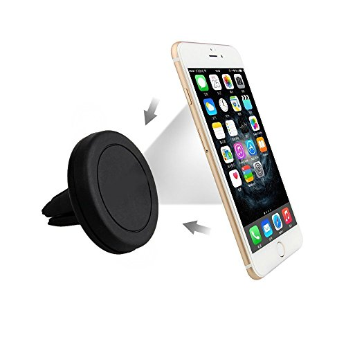 Car Mount, Universal Air Vent Handy Magnetic Car Mount Halter für iPhone 6s Plus 6s 5s Samsung Galaxy S7 und andere Smartphones (schwarz) (Air-vent-mount)
