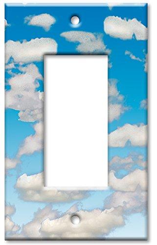 Art Plates Wandteller, Übergröße, Wolken EINZEL ROCKER - 2 Rocker Wall Plate