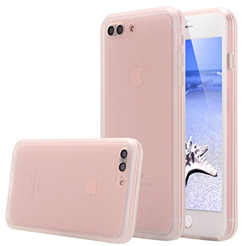 Custodia impermeabile iPhone 7 Plus,iPhone 7 Plus Waterproof case, Snewill Water Resistant [360 All Round Protective] Ultra Slim Thin Light Shockproof Dust/Snow Proof Case Cover with Built-in Screen P Clear