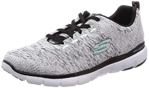 Skechers Damen Flex Appeal 3.0 Sneaker, Weiß (White Black WBK), 38 EU (Schuhe Skechers Damen White)