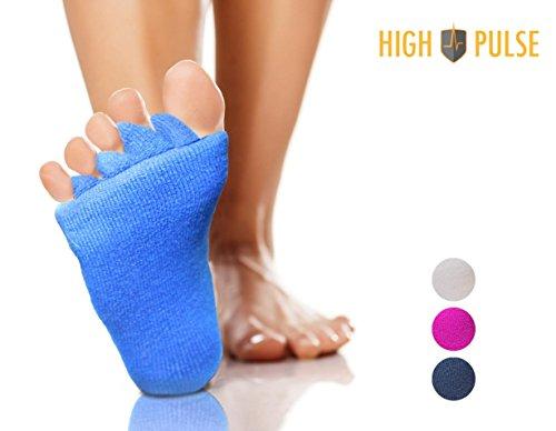 High Pulse Zehenspreizer Socken (1 Paar | Einheitsgröße) – Die sanfte Entspannung bei Hallux Valgus und Zehenfehlstellungen (Blau)