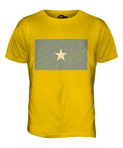 CandyMix Somalia Kritzelte Flagge Herren T Shirt Dunkelgelb