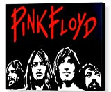 MAUSI CREATIONS - Pink Floyd Gilmour, Waters, Wright, Mason Quadro - Stampa su Tela, Stretched Canvas Print, Druck Auf KEILLENWAND, Riproduzione dal Dipinto