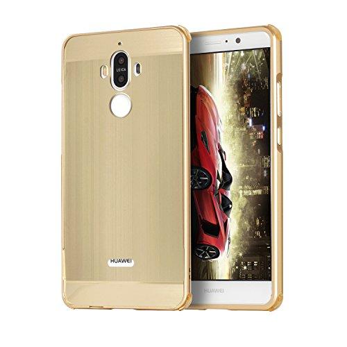 Metall Schutzhülle Alu Hard-Case Schutz Handytasche Ultra-Slim Handy-Hülle für Huawei Mate10, Gold