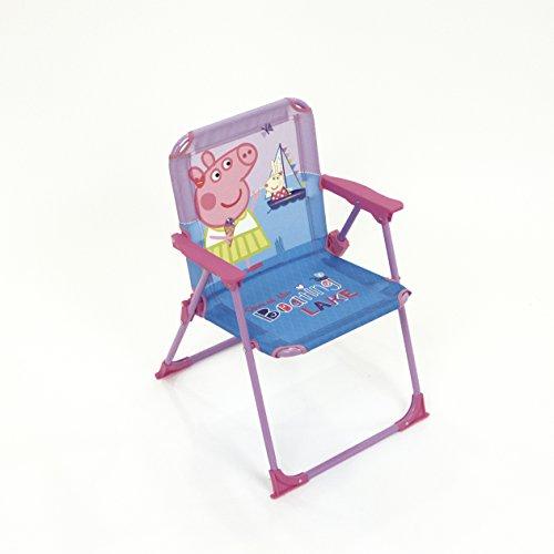 ARDITEX Silla Plegable para niños bajo Licencia Peppa Pig en Metal Dimensiones: 38x 32x 53cm, Tela, 38x 32x 53cm