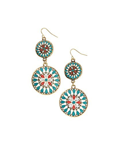 lux-accessories-turquoise-coral-inlay-medallion-drop-earrings