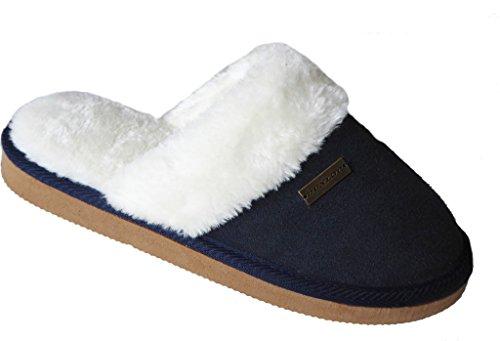 Dunlop Emma, Pantofole donna Navy Suede