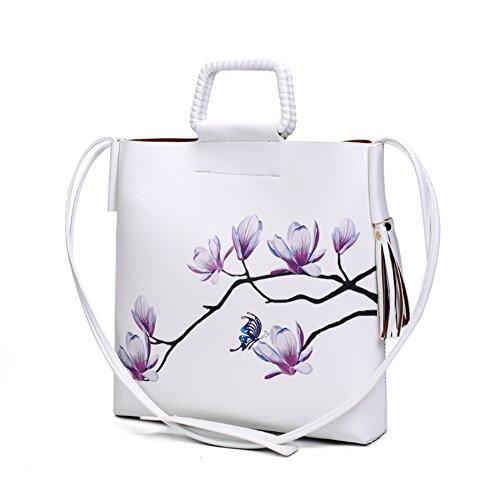 borsa stampa stile cinese/Stampa moda fiore Magnolia diagonale tracolla verticale-F F