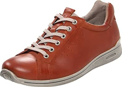 Ecco Sprint Womens Lace Up Casual Shoes Cognac/Moon Rock 2 / 35