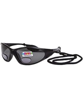 OPTICAID - Gafas de Sol Bifocales Polarizadas de Pesca en Ángulo UV400 - Color Gris, Negro - +2.5