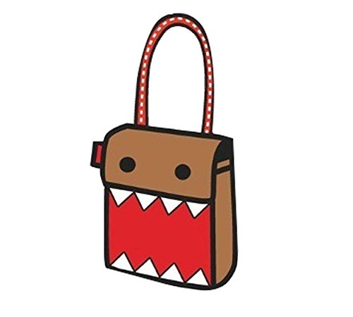 MissFox Donne Scatola Di Cartone Crossbody Messaggero Borse Big Mouth