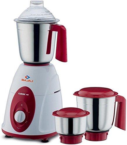 Bajaj Majesty Classic 750-Watt Juicer Mixer Grinder White and Red