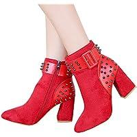Bellelove ❤ Wies Martin Stiefel Stiefel, Herbst und Winter Mode Damen Nieten Plattform Schuhe Trend Party Stiefeletten High Heels