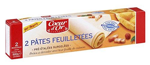 Ronds de pâte feuilletée - 2 x 250 g - Surgelé