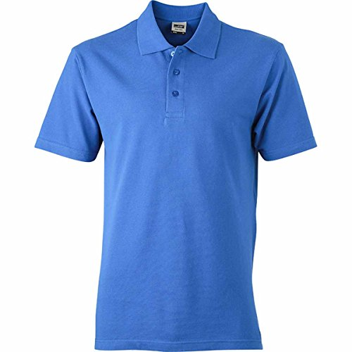 JAMES & NICHOLSON -  Polo  - Basic - Con bottoni  - Maniche corte  - Uomo Blu Royal