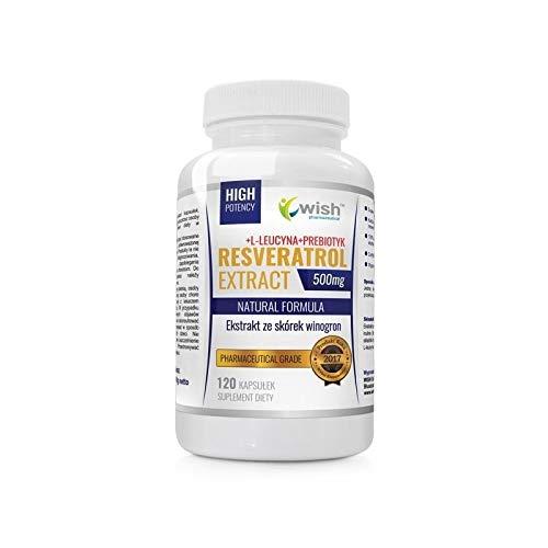 WISH PHARMACEUTICAL Resveratrol Extract 500 mg - 120 capsules