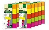 Sigel HN650/10 Haftmarker Neon, 5 Farben, 10 Stück á 200 Streifen im Format 20 x 50 mm