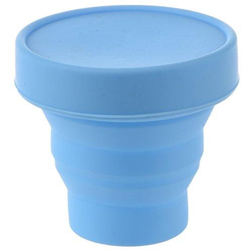 Sonline Vaso Plegable Ahorro de Espaciopara Viaje Campamento (Azul)