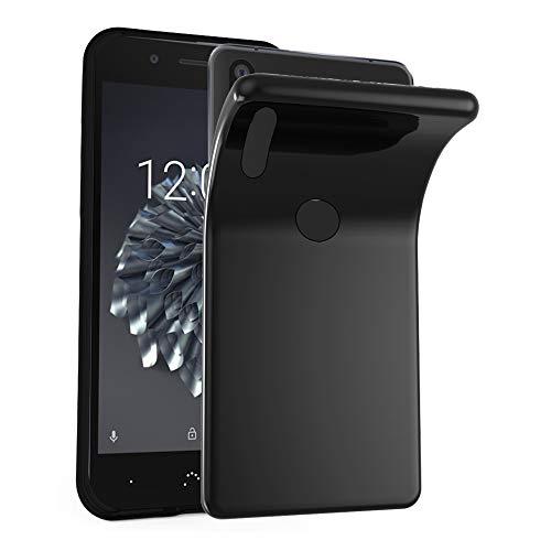 Cadorabo Hülle für BQ Aquaris X5 Plus in SCHWARZ - Handyhülle aus flexiblem TPU Silikon - Silikonhülle Schutzhülle Ultra Slim Soft Back Cover Case Bumper