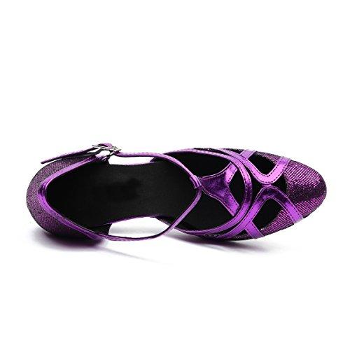 Minitoo, Scarpe da ballo donna Purple-6cm Heel