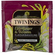 Twinings Tea Elderflower & Blossom Darjeeling Pyramid Loose Leaf Pyramid Box Individual Wrapped