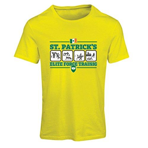 St Pattys Tag-t-shirts (Frauen T-Shirt St. Patricks Elite Force, St. Pattys Tag Irish Shamrock (Medium Gelb Mehrfarben))