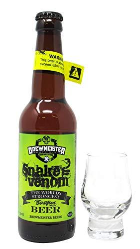 Brewmeister - Snake Venom World's Strongest Beer & FREE Branded Glass - Whisky
