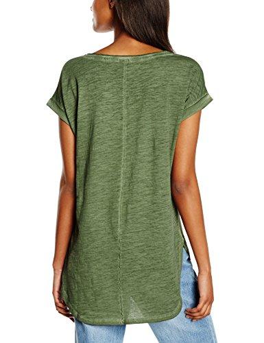 Urban Classics Damen T-Shirt Ladies Long Back Shaped Spray Dye Tee Grün (olive 176)