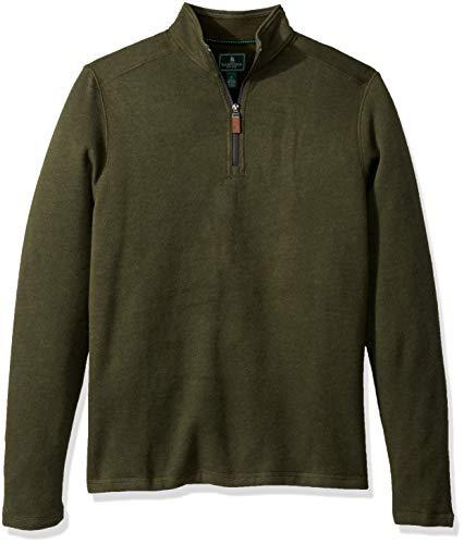 G.H. Bass & Co. Herren Sueded Fleece Long Sleeve Quarter Zip Pullover, Rosin Heather, XX-Large (Quarter-zip Fleece)