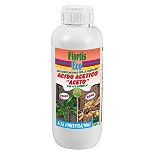 Flortis corroborante Liquid Concentrated Acetic Acid 1000 ml Protects Against Weeds