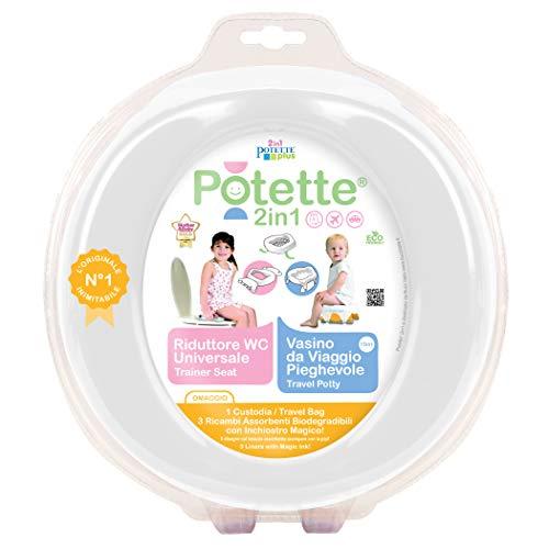 Potette Plus 2-in1- Vasino da Viaggio - Riduttore WC Portatile