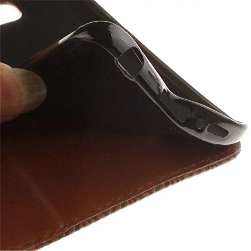 Coque iPhone 6/6S Vanki® Retro tournesol Housse PU Cuir similicuir à rabat Intérieure Protection Souple Coque Silicone Case Cover Pour IPhone 6/6S Brun