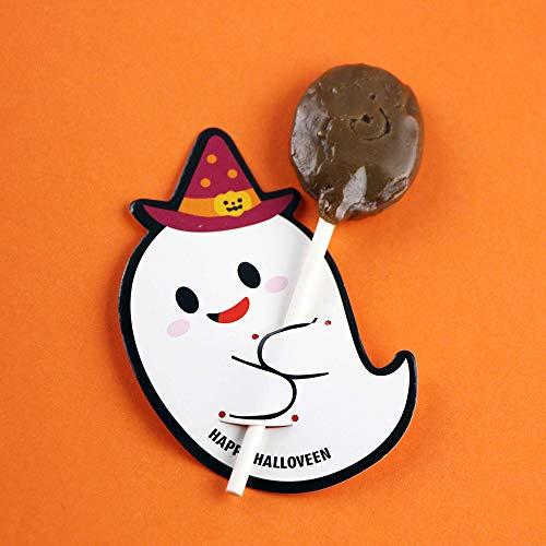 Queta Halloween Kürbis Ghost Lollipop Papier Karte DIY Zucker Karte Dekoration Karte Ghost