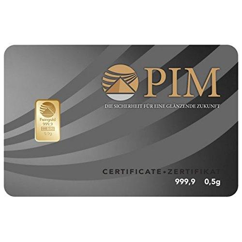 Pim Goldbarren 0,50 Gramm, LBMA Zertifiziert Mit Hologramm