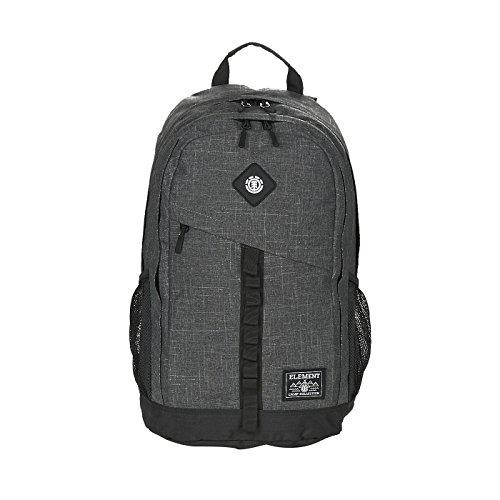 Element Cypress Rucksack, Schulrucksack & Alltagsrucksack mit gepolstertem Rücken (One Size, Black grid Heather)