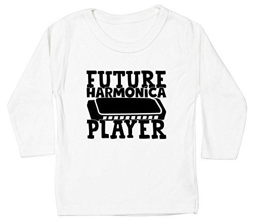 Hippowarehouse Future Harmonica Player Baby Unisex t-Shirt Long Sleeve