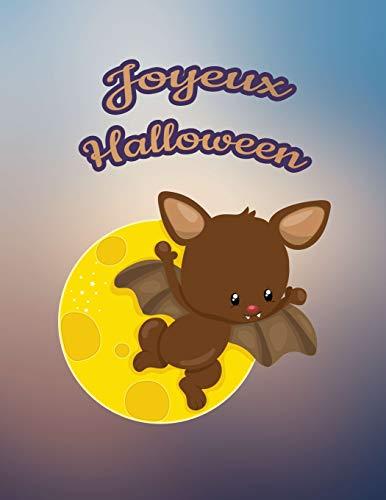 Joyeux Halloween: Pour nos petits : Grand Carnet de Notes de 121 pages blanches avec couverture et pages sur le thème d'Halloween par Virginie Polissou