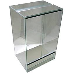 Terrarium 80x60x120 cm mit Schiebetür, Glasterrarium, Schlangen Chamäleon Gekkos