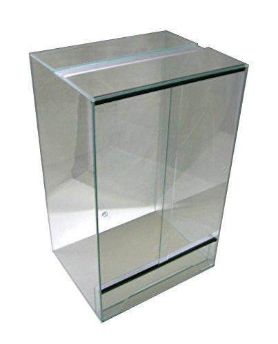 Terrarium 50x50x100 cm mit Schiebetür, Glasterrarium, Schlangen Chamäleon Gekkos