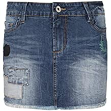 Fresh Made Damen Jeansrock mit Fransen   Patches - Mini Rock mit Heavy  Destroyed Parts c3ea743df6
