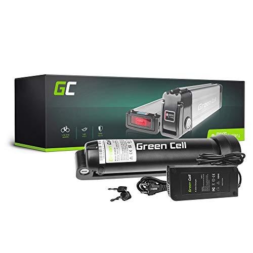 GC® E-Bike Akku 36V 5.2Ah Batterie Pedelec Bottle mit Ladegerät und Li-Ion Panasonic Zellen Triumph Prescott Curtis ISY Green´S Green