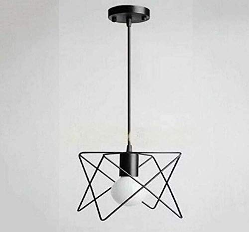 Deckenleuchten Lampen Kronleuchter Pendelleuchten Retro Lichtsocket Rustikale Wandlampen Draht Metall Wandleuchte Indoor Home Retro Lichter Leuchte, Single Lamp-Base mit Modern Contemporary Schwarz f -
