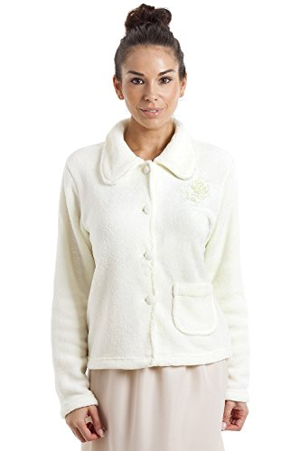 Giacca pigiama in pile morbido caldo con bottoni - 42-56 - avorio Ivory