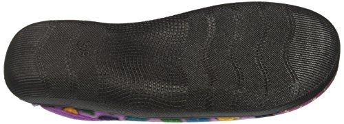 INBLU Bq000132, Pantofole Aperte sulla Caviglia Donna Rosa (Glicine)