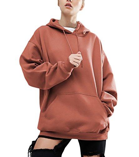 Hoodie Damen Sweatshirt Jungen Große Größen Locker Hooded Pullover Fledermaus Elegant Langarm Für Mollige Vordertaschen Lose Herbst Mode Hoods Casual Streetwear