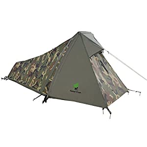 geertop 1 person 3-4 season lightweight aluminum pole backpacking bivy tent for camping outdoor hiking